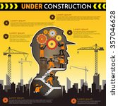 building under construction... | Shutterstock .eps vector #357046628