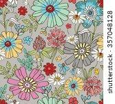 vector illustration of floral... | Shutterstock .eps vector #357048128