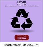 recycle icon or symbol | Shutterstock .eps vector #357052874