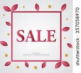 christmas sale design template | Shutterstock .eps vector #357058970