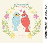 happy birthday invitation card. | Shutterstock .eps vector #357059564