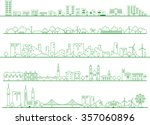 vector city illustration | Shutterstock .eps vector #357060896