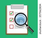 analysis icon vector | Shutterstock .eps vector #357062834