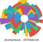 abstract colorful ring wheel... | Shutterstock .eps vector #357066110