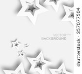abstract origami white paper... | Shutterstock .eps vector #357077504