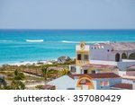view on hotel   cayo largo... | Shutterstock . vector #357080429