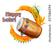 illustration of happy lohri...   Shutterstock .eps vector #357086594