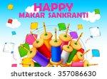 illustration of makar sankranti ...   Shutterstock .eps vector #357086630