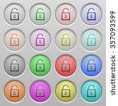 set of unlocked padlock plastic ...