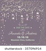 unique vector wedding cards... | Shutterstock .eps vector #357096914