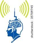 color  dutone  brain activity...   Shutterstock .eps vector #35709745