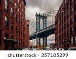 manhattan bridge from... | Shutterstock . vector #357105299