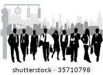 illustration of business people ... | Shutterstock .eps vector #35710798