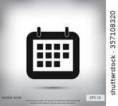 calendar icon | Shutterstock .eps vector #357108320