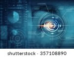 close up of man eye in process... | Shutterstock . vector #357108890