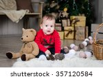 cute baby | Shutterstock . vector #357120584
