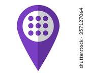 menu   vector icon   violet map ...
