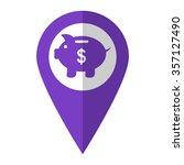 piggy bank   vector icon  ...   Shutterstock .eps vector #357127490