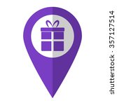 gift   vector icon   violet map ...