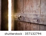 old dark room with shining... | Shutterstock . vector #357132794