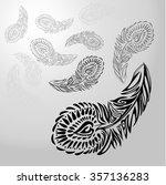 stylized ornament texture black ... | Shutterstock .eps vector #357136283