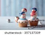 Christmas Cupcakes With Lights...