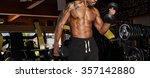 brutal bodybuilder athletic man ... | Shutterstock . vector #357142880