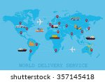 global logistic  shipping and... | Shutterstock .eps vector #357145418