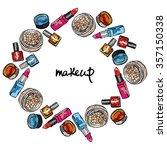 makeup. cosmetics  lipstick ... | Shutterstock .eps vector #357150338