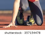 sprint start in track and field | Shutterstock . vector #357154478