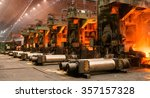 the equipment of the rolling... | Shutterstock . vector #357157328