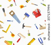 seamless pattern with tools for ... | Shutterstock .eps vector #357157994