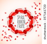 round circle frame of red... | Shutterstock .eps vector #357161720