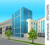 office building with the... | Shutterstock .eps vector #357162596