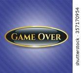 game over golden emblem or badge | Shutterstock .eps vector #357170954