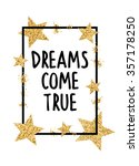 dreams come true | Shutterstock .eps vector #357178250