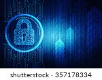 safety concept  closed padlock... | Shutterstock . vector #357178334