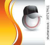 baseball head with cap on... | Shutterstock .eps vector #35717911