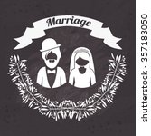 wedding invitation design ... | Shutterstock .eps vector #357183050