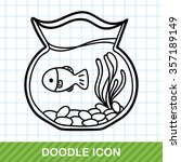 fish bowl doodle | Shutterstock .eps vector #357189149