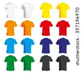 set of colorful tshirt tanks... | Shutterstock .eps vector #357196970