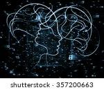 human tangents series. abstract ...   Shutterstock . vector #357200663