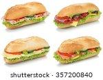 collection of sub deli... | Shutterstock . vector #357200840