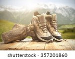 mountains background and travel ... | Shutterstock . vector #357201860