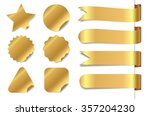 gold sticker   ribbon set. | Shutterstock .eps vector #357204230