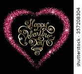happy valentines day text... | Shutterstock .eps vector #357208304