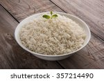 Basmati Rice In A Brass Bowl ...