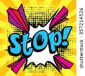 "pop art comics icon ""stop "".... 