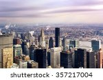 the new york city manhattan... | Shutterstock . vector #357217004
