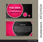 abstract modern visit cards ... | Shutterstock .eps vector #357219224